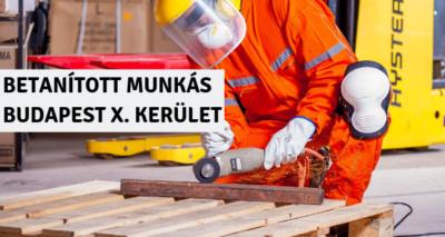 BETANÍTOTT MUNKÁS - BUDAPEST X. KERÜLET