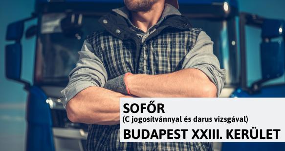 Sofőr – Budapest XXIII. kerület